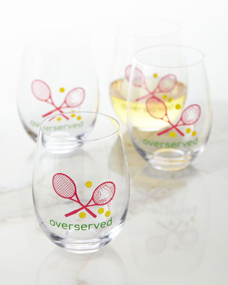 August Morgan Overserved Wine Glasses, Set of 4