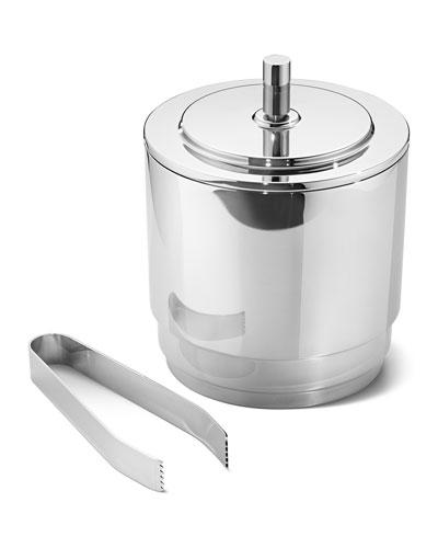 Manhattan Ice Bucket w/ Tongs