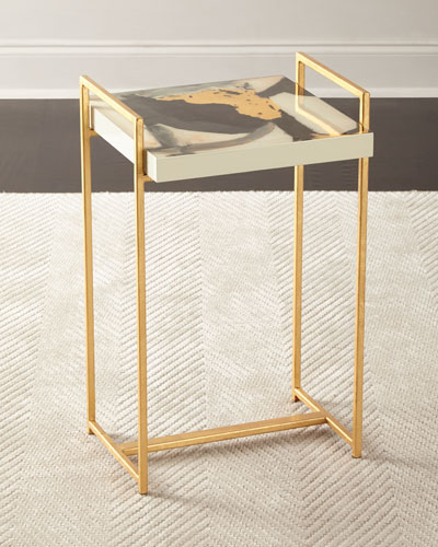 Soraya Abstract Painting Side Table