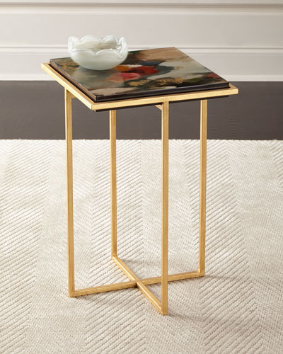 Lucidia Abstract Flowers Side Table