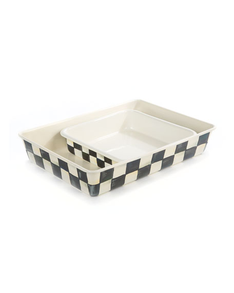 "MacKenzie-Childs Courtly Check Baking Pan, 8"" Square"