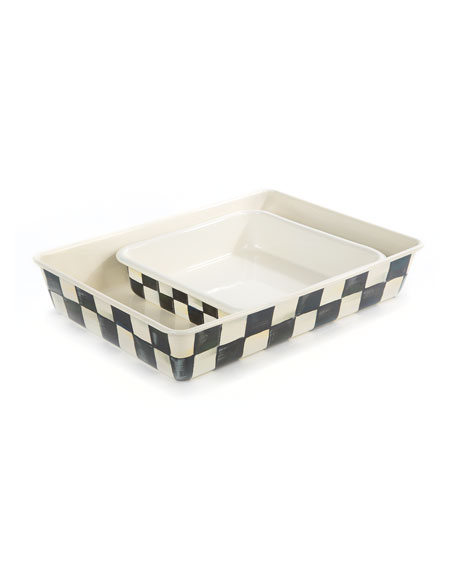 MacKenzie-Childs Courtly Check Baking Pan, Rectangular