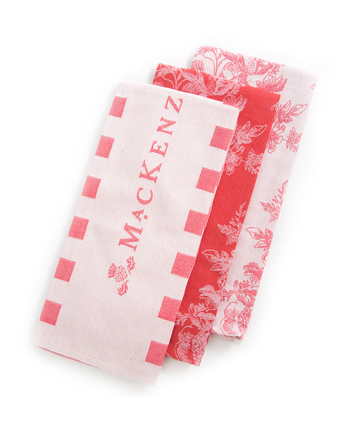 Wild Rose Dish Towels, Set of 3