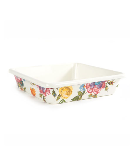 "MacKenzie-Childs Flower Market Baking Pan, 8"" Square"