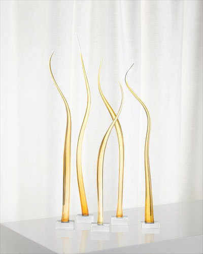 Amber Waves of Glass Sculpture, Set of 5