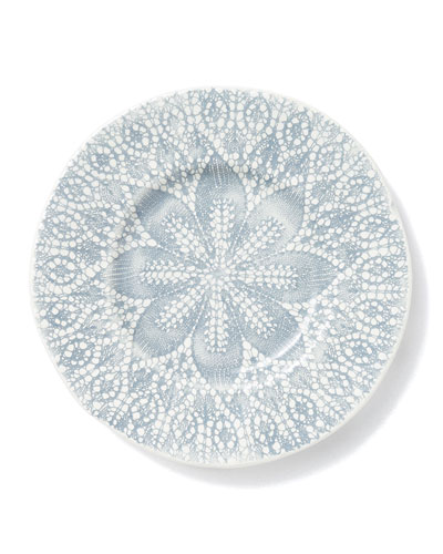 Lace Gray Cocktail Plates, Set of 4