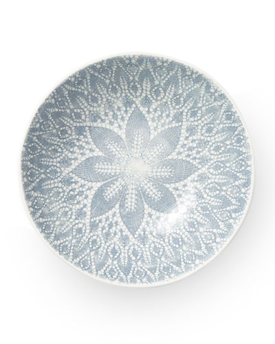 Lace Gray Medium Serving Bowl