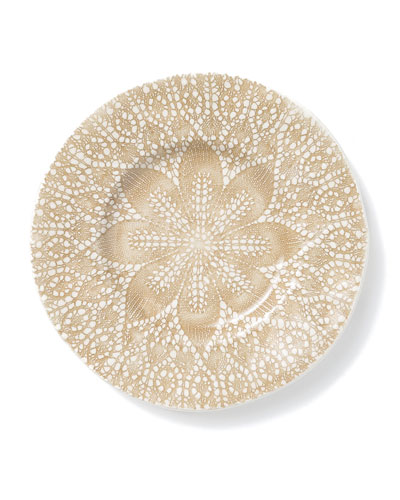 Lace Natural Salad Plate