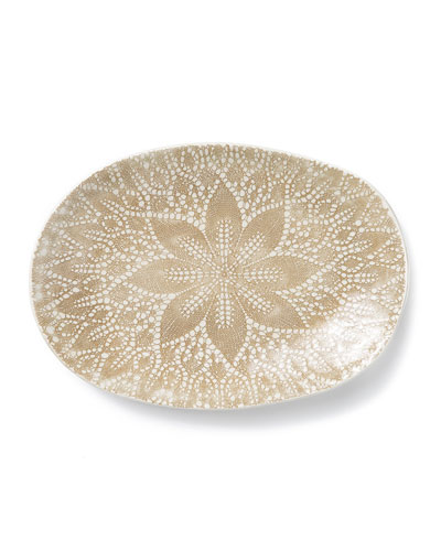 Lace Natural Large Oval Platter