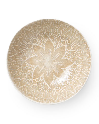 Lace Natural Medium Serving Bowl