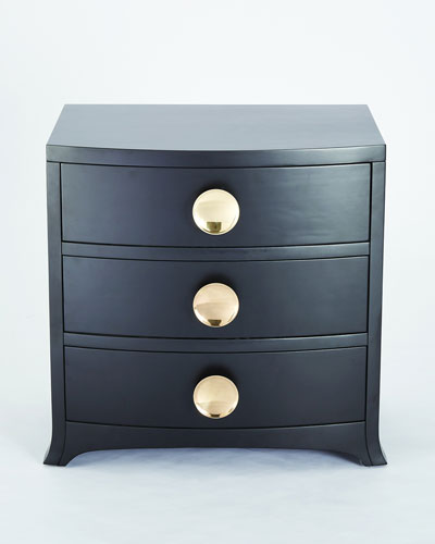 Button Front 3-Drawer Chest