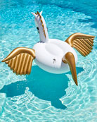 Funboy Pegasus Giant Pool Float, White/Golden
