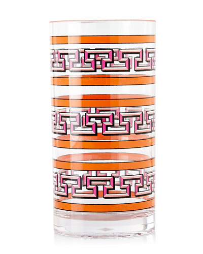 Orange Mykonos Acrylic Highball Glass