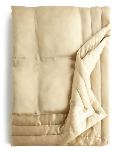 Silk Quilted Throw 50x70