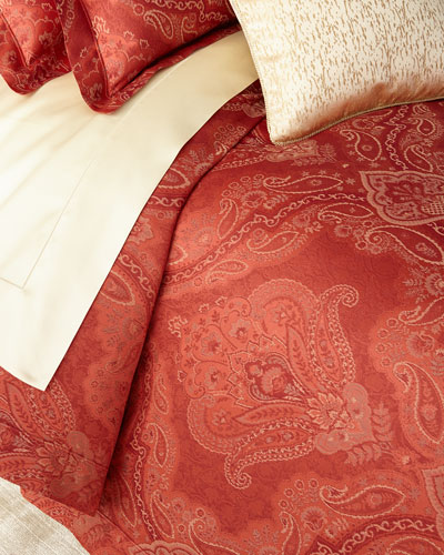 King Floral Paisley Duvet Cover