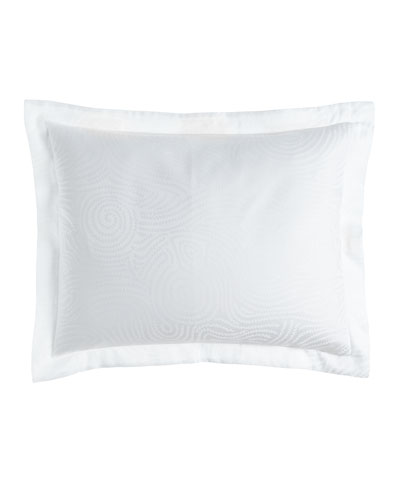 King Winter White Scroll Sham