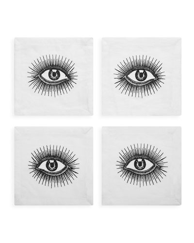 Eyes Cocktail Napkins, Set of 4
