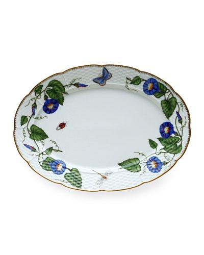 Morning Glory Oval Platter