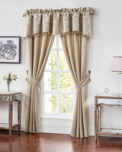 Two Chantelle Stripe Jacquard Curtains, 84