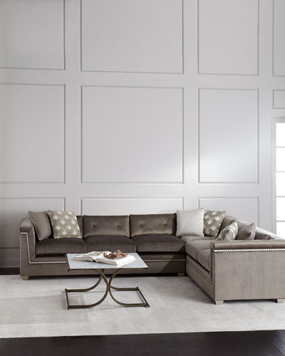 Jenna Tufted Back Sectional Sofa