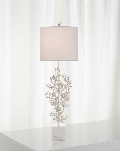 Silver Botanical Table Lamp