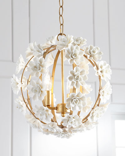 Ceramic Flower Pendant Light