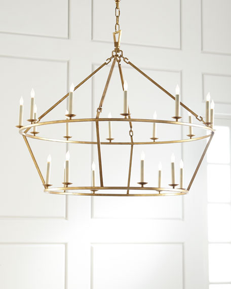 Chapman & Myers Darlana Large Two-Tiered Ring Chandelier