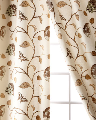 Butterfly Linen/Cotton Curtain, 96