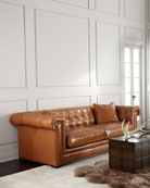 Zayden Chesterfield Leather Sofa