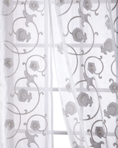 Carnation Cotton Organdy Curtain, 96