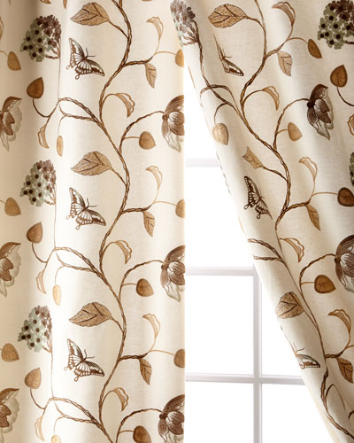 Butterfly Linen/Cotton Curtain, 108