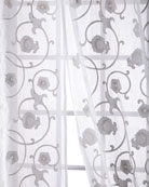 "Carnation Cotton Organdy Curtain, 108"""