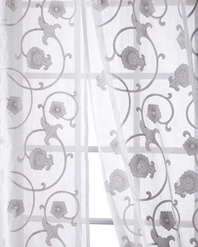 Carnation Cotton Organdy Curtain, 108