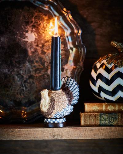 MacKenzie - Childs Autumn Harvest Turkey Candlestick