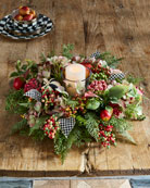 Autumn Sunset Candle Centerpiece