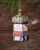 Boardwalk Popcorn Machine Glass Christmas Ornament