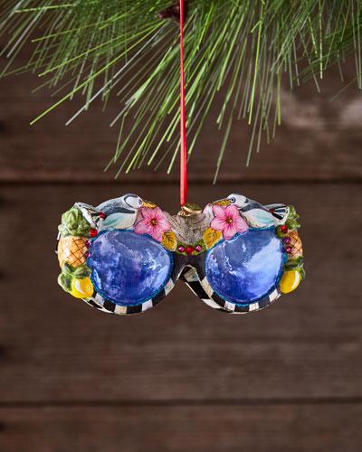 St. Tropez Sunglasses Glass Ornament