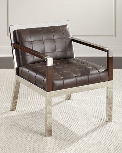 Yannick Leather Tufted Chair