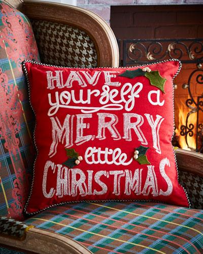 Merry Little Christmas Pillow