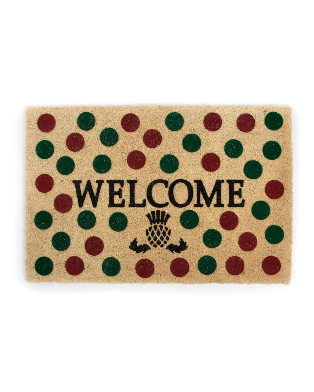 Holiday Dot Welcome Doormat
