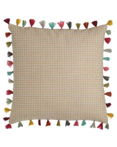 Borla Pillow with Tassel Fringe, 22