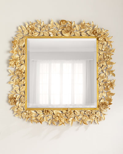 Composition Floral Leaf Mirror, 42