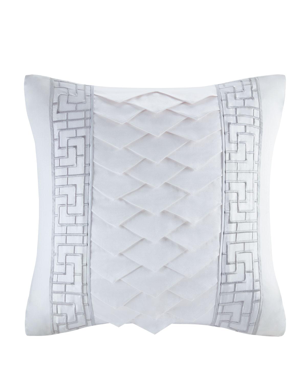Decorative Square Pillow, White