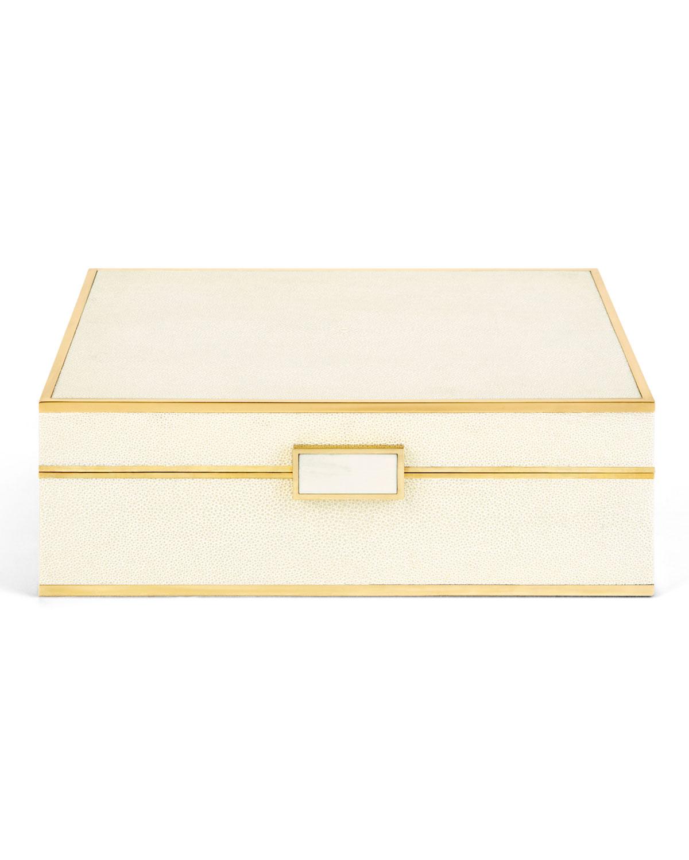 Aerin LARGE FAUX-SHAGREEN JEWELRY BOX