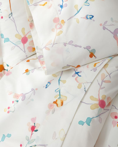 Two King 400TC Blossom Pillowcases