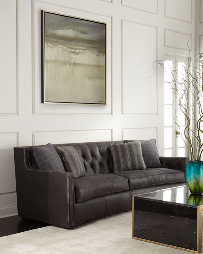Madeline Tufted Leather Sofa