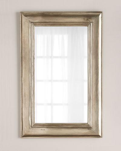 Silver Clad Rectangular Mirror