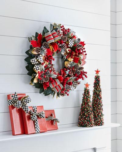 MacKenzie - Childs Tartan Frost Wreath