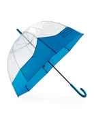 Original Moustache Bubble Umbrella, Ocean Blue