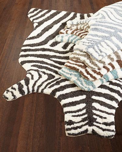 Lilly Zebra Shag Rug, 5' x 7'6